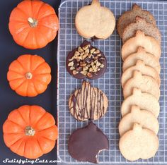 Pumpkin Patch Cutout Cookies- The PERFECT Grain-Free Cookie with nut-free and dairy-free modifications. Cut them into your favorite shapes for the holidays! www.satifyingeats.com