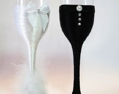 Taças decoradas para noivos Imperatriz