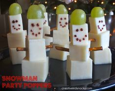 Snowmen snacks