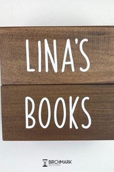 These personalized bookends get children excited about the books between them and the pages inside. Handcrafted from solid wood, each wooden bookend is made to order with the name of your choice. Reading can open a door to endless possibilities and spark the imagination, let their imaginations soar! Baby Name Blocks, Wooden Bookends, Unique Gifts For Mom, Family Events, Block Lettering, Perfect Christmas Gifts, Handmade Wooden, Teaching Kids, Baby Names