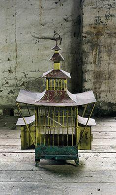 Oriental Red Bird Cage