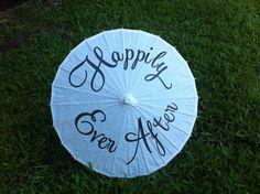 Happily Ever After  Wedding Parasol - Wedding Photo Prop - Decoration