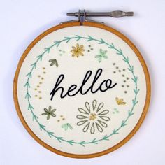 salty oat: modern quilts: hello embroidery sampler