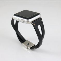 The Quartz Watch Demystified Black Apple Watch Band, Apple Watch Bands Fashion, Apple Band, Apple Watch Sizes, Apple Watch Series 3, Apple Straps, Apple Watch Leather Strap, Apple Watch Wristbands, Quartz Watch