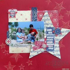 """""""Red, White, & Blue"""" Layout by Authentique Paper DT member Natalie Dever made with """"Glory"""" and Core'dinations Cardstock    #AuthentiquePaper #Coredinations"""