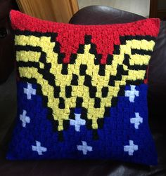 A personal favourite from my Etsy shop https://www.etsy.com/uk/listing/505829605/wonder-woman-indpired-c2c-crochet