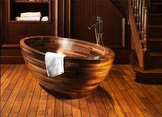 Vasche da bagno in legno di Unique Wood Design