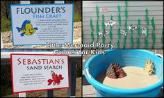 Little Mermaid Birthday Party - game and craft for kids!