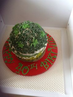 Grasshopper giant cupcake