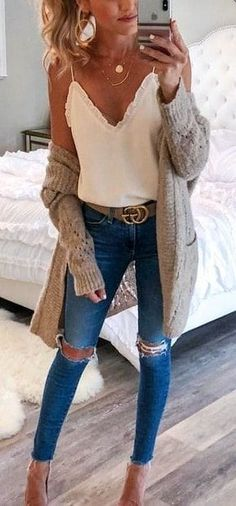 winter outfits cardigans schne Outfit-Ideen, u - winteroutfits Fashion Mode, Look Fashion, Feminine Fashion, Latest Fashion, Trendy Fashion, Fashion Fall, Fashion 2015, Autumn Fashion 2018 Casual, Autumn Fashion 2018 Women