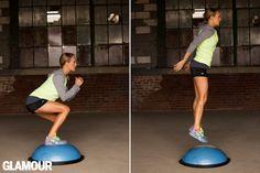 Carrie Underwood's Leg Workout: Bosu Jumps