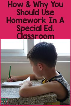 autism homework strategies