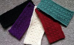 Headbands and other free crochet patterns