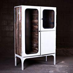 LAB 1 Vintage Industrial Glazed Cabinet