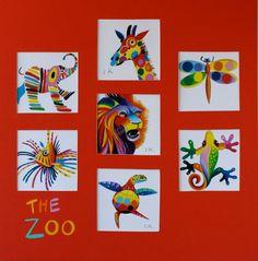 design inspiration: whimsical paintings - FUN inspiration for colour theory Kids Art Class, Art For Kids, 5th Grade Art, Ecole Art, Art Lessons Elementary, Painting Lessons, Elements Of Art, Art Lesson Plans, African Art