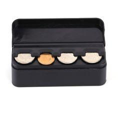 1Pc Auto Car Portable Plastic Coin Holder Change Storage Box Case Container Holder Black | #StorageBoxForToys #StorageBoxes