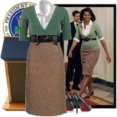 Great everyday work look from the 1st lady.