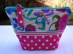 Handmade fabric Zipper pouch  cosmetic bag  make up by GerdaBags, £8.25