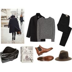 A fashion look from November 2013 featuring wool blend sweaters, single breasted wool coat and Paige Denim. Browse and shop related looks.