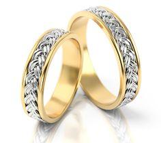 Złote obrączki ślubne z kolekcji PZ Stelmach model 008