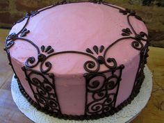 pink and chocolate cake, via Flickr.