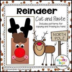 Reindeer Cut and Pas