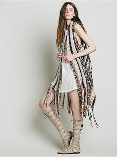 Free People Multi Yarn Fringe Vest, $228.00