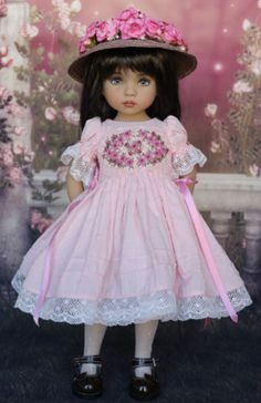 OOAK-Smocked-Ensemble-for-Effner-13-Little-Darling-Dolls-Petite-Princess-Design