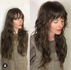 Long Curly Haircuts, Long Shag Haircut, Messy Hairstyles, Pretty Hairstyles, Mullet Haircut, Mullet Hairstyle, Curly Hair Cuts, Curly Hair Styles, Wavy Hair