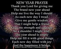 Prayer New Year Saying – Merry Christmas And Happy New Year 2018