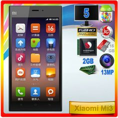 Xiaomi Mi3  El buque insignia de Xiaomi, en su versión de 16 GB Badges