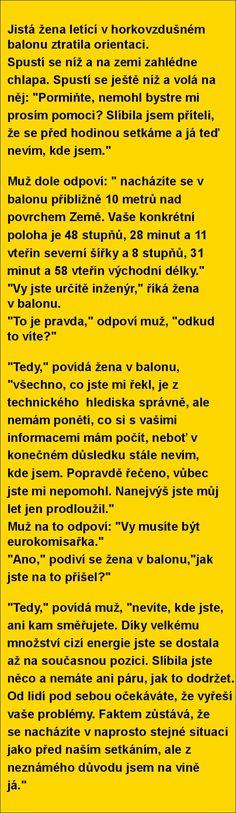 Jistá žena letící v horkovzdušném balonu ztratila orientaci.. | torpeda.cz - vtipné obrázky, vtipy a videa