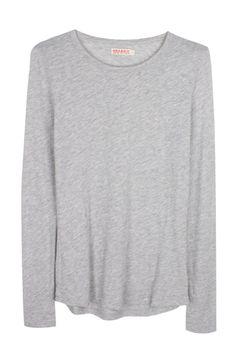 Organic by John Patrick | Long Sleeve Shirttail - Grey Melange | MYCHAMELEON.COM.AU