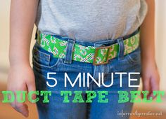 DIY Crafts | Make a belt out of Duck Tape in only 5 minutes!