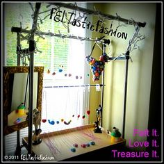 DIY portable necklace display stand for craft show