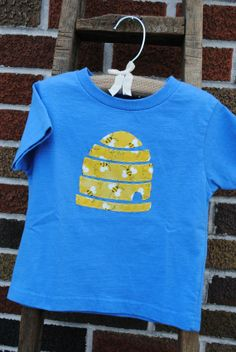 Hand sewn bee beehive infant or toddler t shirt by Onceuponastory, $20.00,cute for Maevey!