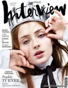Sophie Turner for Interview Germany April 2015 | Art8amby's Blog