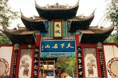 Temple in Fengdu, China