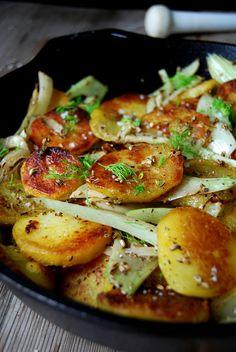 Crispy Pan-Roasted Fennel Potatoes ° eat in my kitchen