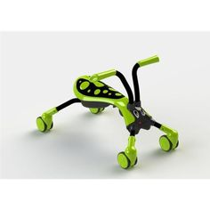 """Scramblebug 4 Wheel Ride On Color: Green/Black Hornet by Quicksmart. $49.99. I09728USA Color: Green/Black Hornet Features: -Compact fold for storage and travel.-Cute bug character will be adored by your child.-Light weight and easy to get around.-Quiet wheels are both friendly on indoor floors and appropriate for outside use.-Set up dimension: 15.7"""" H x 24.8"""" L x 14.2"""" W.-Folded dimension: 27.6"""" L x 5.5"""" H x 14.2"""" W. Specifications: -360 degree wheels allow the ultimate..."""