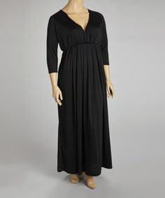 Take a look at this Black Empire-Waist Maxi Dress - Plus by Miss Maxi on #zulily today!