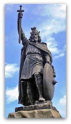 Statue of Alfred the Great in Winchester, England