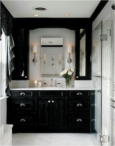 i love this but id replace the sink with a squarerectangle one and the mirror to matchbathroom cabinet i am so repainting ours - Bathroom Cabinets Black