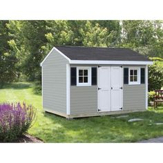 Merveilleux Sheds USA Installed Classic 8 Ft. X 12 Ft. Vinyl Shed V0812C   The Home  Depot