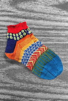 Check out our hand made socks selection for the very best in unique or custom, handmade pieces from our shops. Knitting Socks, Hand Knitting, Knitted Hats, Unique Socks, Short Socks, Wrist Warmers, Knit Or Crochet, Knitting Projects, Red And Blue