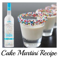 New Years Eve Drink Recipes - Make Birthday Cake, Birthday Cake Shots, Birthday Drinks, Cake Vodka, Martini Cake, Vodka Shots, Liquor Shots, Martini Recipes, Drink Recipes