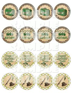 Printable FISHING CUPCAKE TOPPERS - Fishing Party Circles - Fishing Themed Cupcake Toppers - Fishing Birthday Party Cupcake Signs