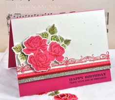 Birthday Roses Card by Dawn McVey for Papertrey Ink (March 2013)