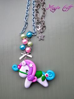 Collana Pony in Fimo di MagieCraft su Etsy, €8.00