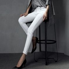 34.33$  Buy here - http://alibyg.shopchina.info/1/go.php?t=32525495152 - Vintage  American Women Mid Waist Elastic Jeans Skinny Stretch Pencil Pants Ladies Sexy Slim Denim Pants 34.33$ #SHOPPING